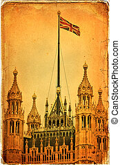 London - Houses of Parliament and Big Ben in Westminster, ...