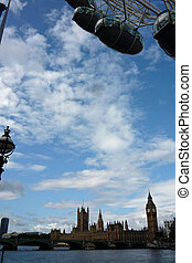 Houses of Parliament and London Eye