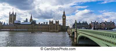 Houses of Parliament Big Ben and Westminster Bridge