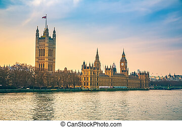 Houses of parliament in London