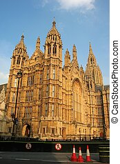 Houses of Parliament in London UK view from Abingdon street- detail