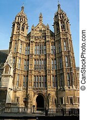 Houses of Parliament in London UK view from Abingdon street
