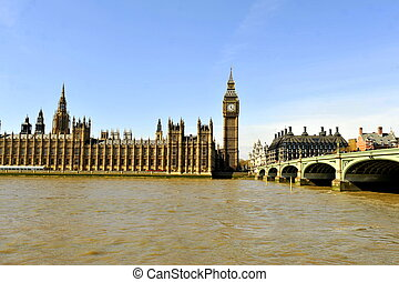 Houses of Parliament & Thames