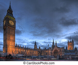 Houses of Parliament, Westminster - View of the Houses of...