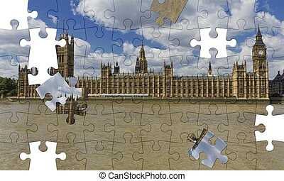 Westminster Palace - Houses of Parliament with Big Ben, ...