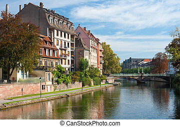 Houses of Strasbourg in the morning