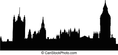 houses of the parliament in London - isolated vector illustration