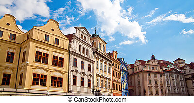 Houses On A Town Square In Prague