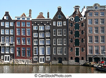 Amsterdam - Houses on Amsterdam canal