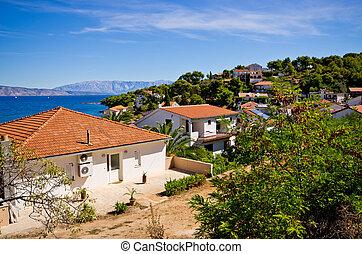 Houses on Croatian seashore