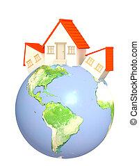Houses on Earth