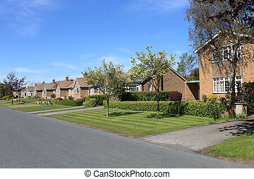 Houses on English street