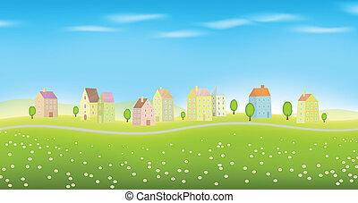 Houses on Landscape