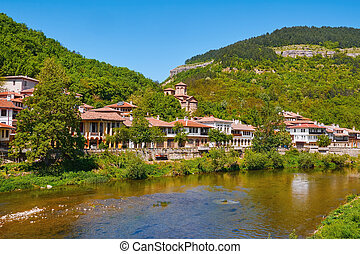 Houses on the Bank of River