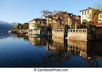 Houses on the lake