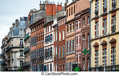 houses on the street of Lyon