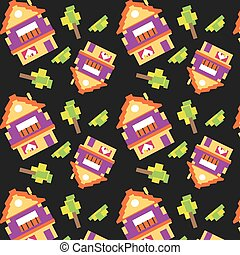 houses pattern