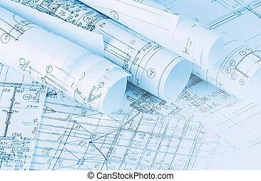 houses, projects, задний план