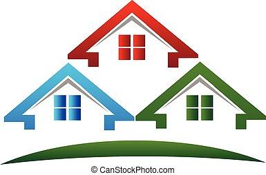 Houses Real estate logo