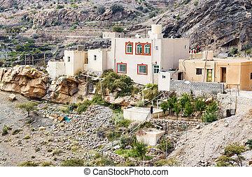 Houses Saiq Plateau - Image of houses on Saiq Plateau in...