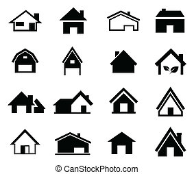 houses set icon vector