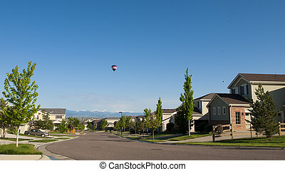 Houses - Suburban subdivision in town of Erie, Colorado.