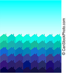 Houses tessellation - A vector illustration of rows of...