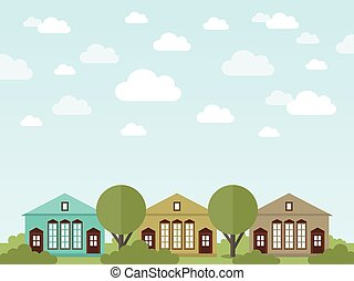houses2, paysage