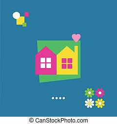 housewarming, powitanie karta