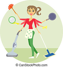 housewife - Housewife of all trades, washing and cleaning...