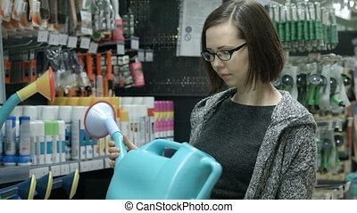 Housewife in a supermarket
