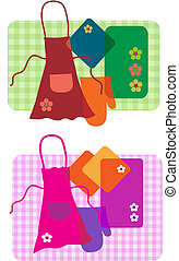housewife kitchen set - collection of household kitchen...