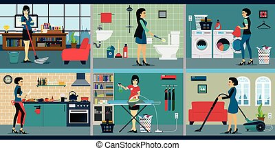 The work of a housewife who has a different background.