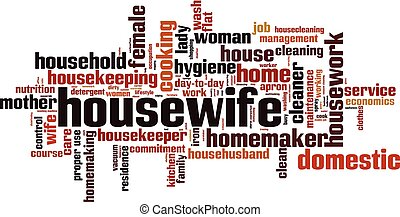 Housewife word cloud concept. Vector illustration
