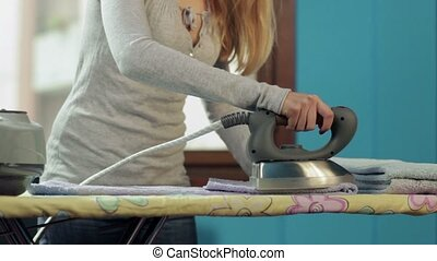 Housewife working at home
