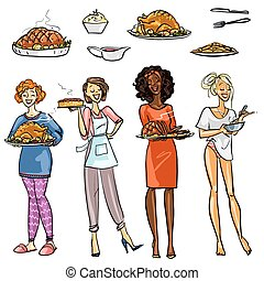 housewifes, 食事, かなり
