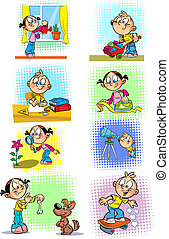 Housework for children - The illustration shows some...