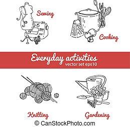 housework, vetorial, ilustração