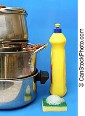 housework - washing pots and pans
