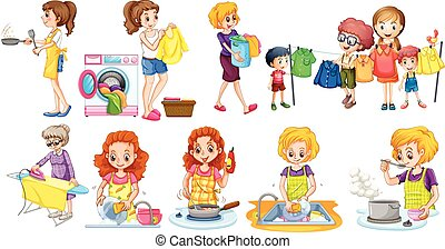 houseworks, differente, persone