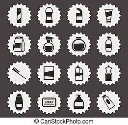 Houshold chemicals icons set - Houshold chemicals black ...