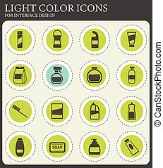 Houshold chemicals icons set - Houshold chemicals vector ...