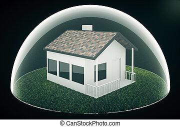Housing bubble on dark - Real estate bubble on dark...