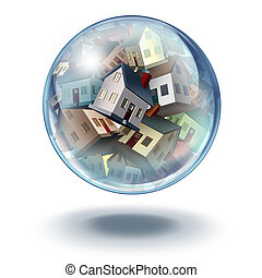 Housing bubble symbol