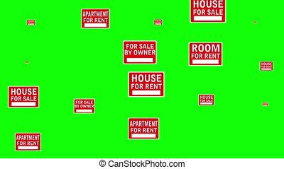 Housing crisis wipe green screen - Housing crisis wipe on...