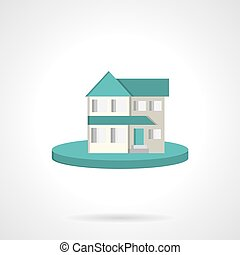 Housing flat style vector icon