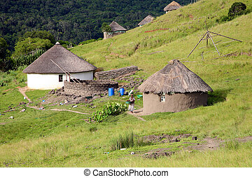 Housing in South Africa - Traditional houses in Coffee Bay -...