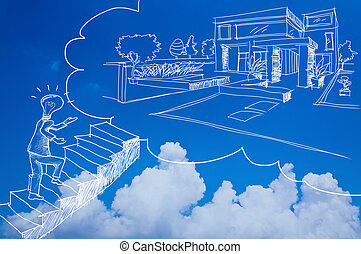 housing loan business with blue sky