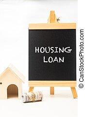 Housing Loan wordings on a chalkboard