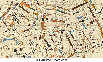 Housing map - Colorful editable vector illustrated map of...